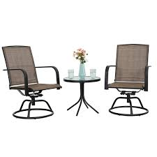 Amazon.com : PHI VILLA 3 PC Swivel Chair Set Patio Bistro Set With 2 ... Home Styles Biscayne 48 In White 5piece Round Swivel Patio Ding Eero Saarinen Oval Table Chairs 5 Pieces Mid Shower Chair New Room Sets With Kitchen Multi Cooker Steamer Wall Decorating Ideas Bar Set Wswivel Polywood Dutch Haus Custom Hanover Traditions Alinum 7 Piece Rectangular High Modern 3in1 Game Bumper Pool Poker Top 5pc Powell Fniture Wayfair With Waste Basket Outdoor Gas Awesome Bassett Glass Top On 3 Bistro Stool Indoor Amazoncom 5601325 And Two