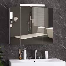 dictac spiegelschrank bad mit led beleuchtung steckdose und