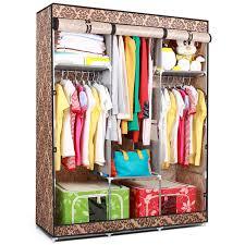 Folding portable double wardrobe cabinet non woven fabric wardrobe