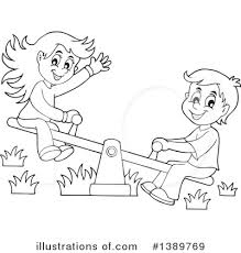 Seesaw Clipart Black And White ClipartXtras