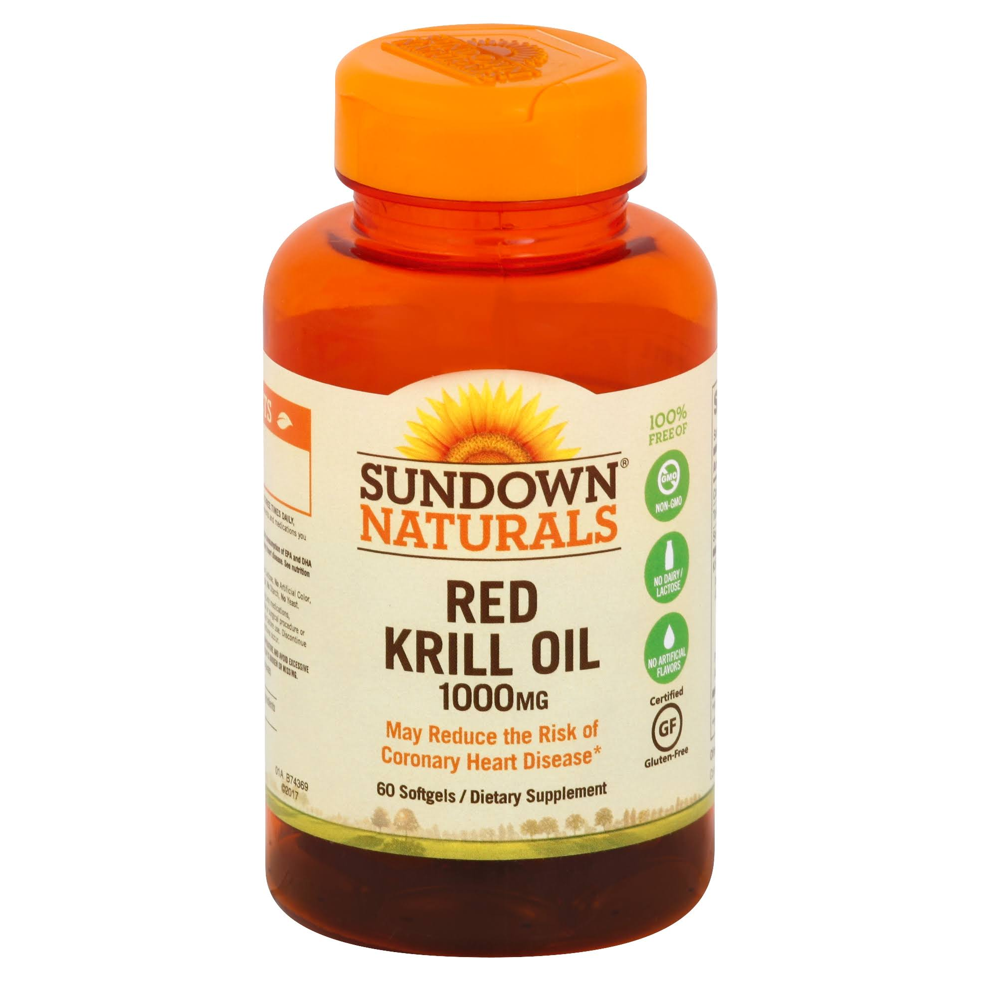 Sundown Naturals Krill Oil Dietary Supplement - 1000mg, 60ct