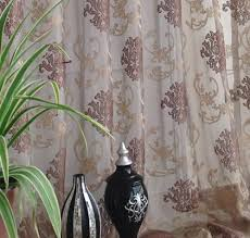 Allen Roth Curtains Bristol by 132 Inch Damask Embroidered Rod Pocket Sheer Curtains Sale 77 00