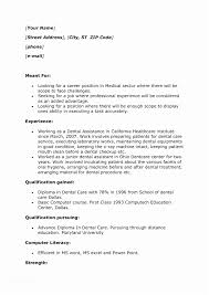 Resume Examples For Jobs With Little Experience Dental Assistant No Work Of
