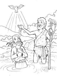 Sumptuous Jesus Baptism Coloring Pages 298 Best Of Images On Pinterest