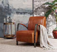 Rustic Top Grain Genuine Leather Leisure Chair Comfortable ...