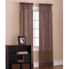 Walmart Mainstay Sheer Curtains by Mainstays Leopard Print Voile Sheer Drapery Panel Walmart Com