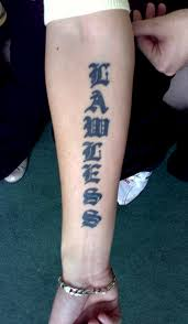 Stylish Chinese Word Tattoo