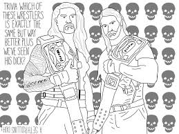 Heel To Face Coloring Book Rollins Reigns