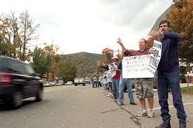 dresser rand employees from painted post picket in olean news