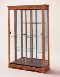 Collectors Cabinet Display Case Glass With Light Wall Cases