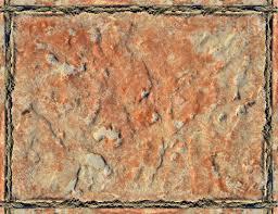 Rough Surface Orange Ceramic Tiles Background Top View Stock Photo