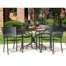 Salterini Iron Patio Furniture by South Bay 5 Piece Patio Dining Collection