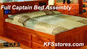 Twin Captains Bed With 6 Drawers by Full Captain Bed Assembly Kfsstores Com Youtube