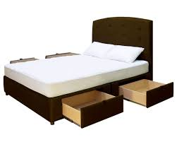King Platform Bed With Fabric Headboard by King Platform Bed With Drawers Decofurnish