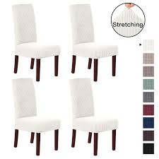 H.VERSAILTEX Dining Chair Covers High Back (Set Of 4) Stretch Dining Room  Chair Slipcovers Sets, Stretch Chair Furniture Protector Covers Removable  ... Hot Sale White Ivory Polyesterspandex Wedding Banquet Hotel Chair Cover With Cross Band Buy Coverbanquet Coverivory Covers And Sashes Btwishesukcom Us 3200 Lace Tutu Chiavari Cap Free Shipping Hood Ogranza Sash For Outdoor Weddgin Ansel Fniture Tags Brass Covers Stretch 50 Pcs Vidaxlcom Chair Covers In White Or Ivory Satin Featured Yt00613 White New Style Cheap Stretich Madrid Spandex Chair View Kaiqi Product Details From Ningbo Kaiqi Import About Whosale 50100x Satin Slipcovers Black 6912 30 Off100pcspack Whiteblackivory Spandex Bands Sashes For Party Event Decorationsin Home Wedding With Bows Peach Vs Linens Lots Of Pics Indoor Chairs Beautiful And