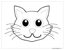 Cat Face Coloring Sheet