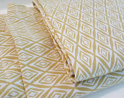 Gold And White Curtains by Lined Curtains Etsy