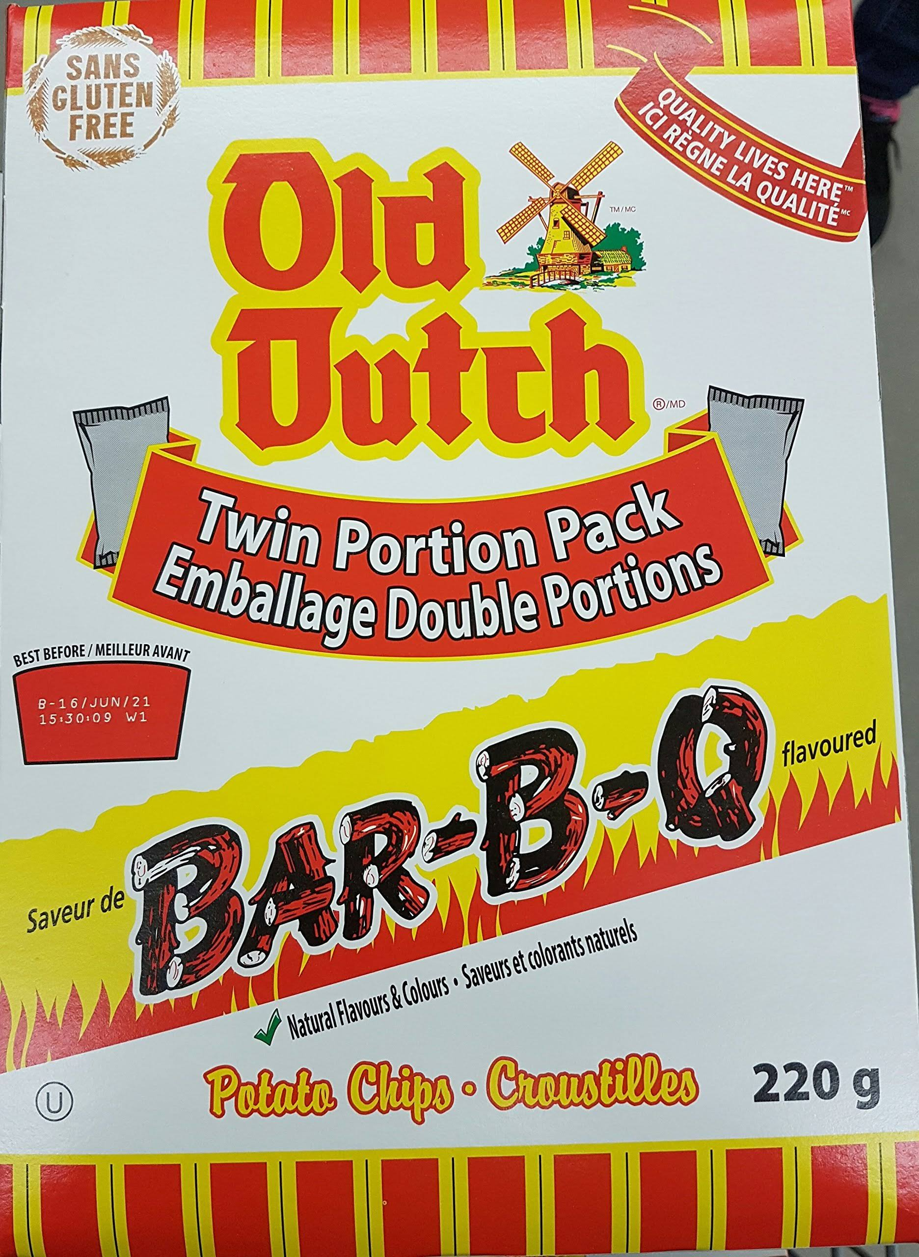 Old Dutch BBQ barbque Potato Chips 220g Box {Imported from Canada}