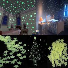 100pcs set glow in the wall stickers for rooms