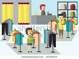 Clothes Shop In The Illustration
