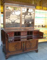 Drop Front Secretary Desk Antique by Uhuru Furniture U0026 Collectibles Sold George Iii Secretary Desk