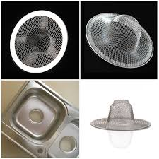 1 pc stainless steel mesh sink strainer drain stopper trap kitchen