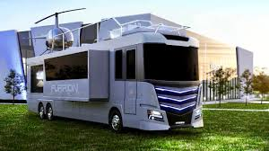 Super Luxury RV Camper Way Nicer Than Your Home Comes With Helicopter On Roof