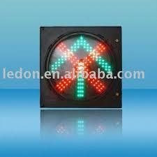 cd300 1 12 led traffic signal light x and green arrow traffic