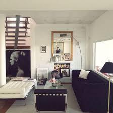modern vintage decor living room barcelona chair barcelona