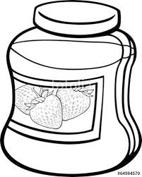 Jam In Jar Cartoon Coloring Page