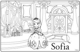 Sofia The First Coloring Page Disney Junior Princess