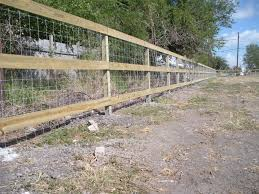 60 3 Rail Fence With Wire Backing