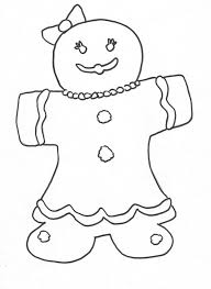 Christmas Coloring Page Gingerbread Man Pages