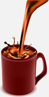 Coffee Pouring Into Cup Food Vector