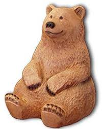 free wood spirit patterns carved bear cubs statues wood