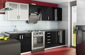 cuisine equipee noir laque pas cher cuisine complete bois