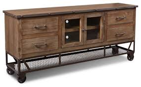 Rustic Industrial Style 72 TV Stand Sideboard Console