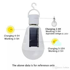 2018 hanging solar energy rechargeable emergency led light bulb 7w