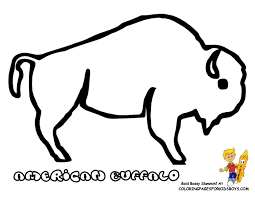 Buffalo Coloring Pages For Kids