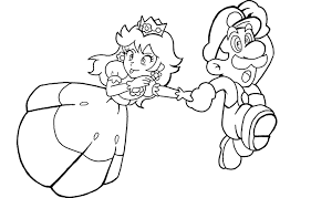 Princess Peach Colouring Pages To Print