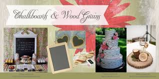 Chalkboards And Wood Grains Rustic Bridal Shower Decor DIY Decorations