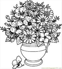 Flower Coloring Pages To Print Panda