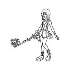 The Kairi With Her Key Blade