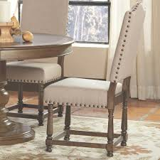 Grey Upholstered Dining Chairs With Nailheads by Dining Chairs With Nailheads Dining Room Chairs With Nailhead Trim