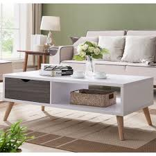 100 Living Room Table Modern Arella II Distressed Grey White Coffee By FOA