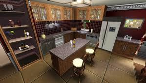 lighting flooring sims 3 kitchen ideas travertine countertops red