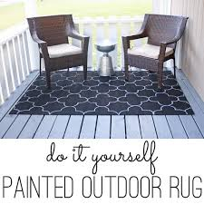Painting Carpets by Outdoor Rug On The Cheap An Easy Diy Project