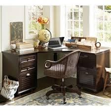 pottery barn whitney corner desk set heritage espresso finish