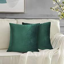 gigizaza grün kissenbezug samt kissenhülle 60x60cm deko kissenbezüge dekokissen fall für sofa schlafzimmer wohnzimmer 2er set