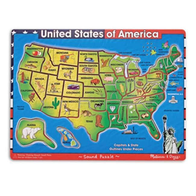 Melissa & Doug United States Of America Sound Puzzle